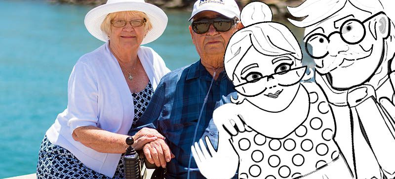 kolorowanki na dzień babci i dziadka