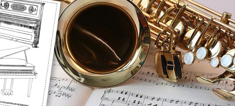 kolorowanki instrumenty muzyczne