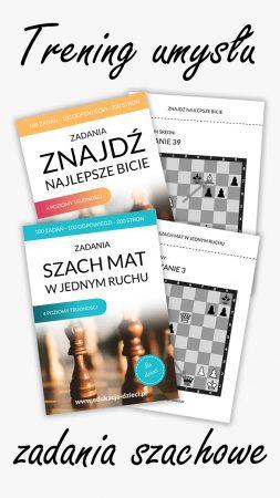 zadania szachowe dzieci